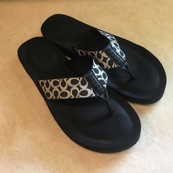 06cc19109 Coach Shoes - Coach Jessalyn flip flop sandals
