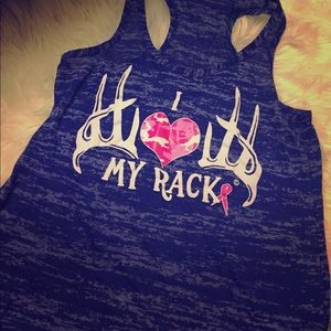 Camo Tops - I 💕 my rack, breast cancer tank