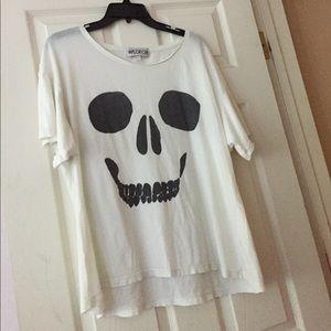 Wildfox Skull Skeleton Top!