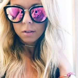 Diff Eyewear Accessories - Diff tortoise rose mirrored sunglasses