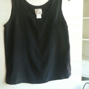 Tops - Vintage silk black shell tank