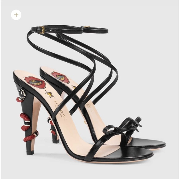 Gucci Shoes - Gucci snake heels sandals (please read) d238cd08c