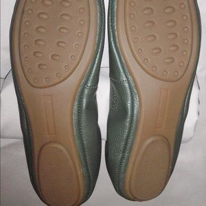 Talbots Shoes - Talbots Green Leather Ballet Flats