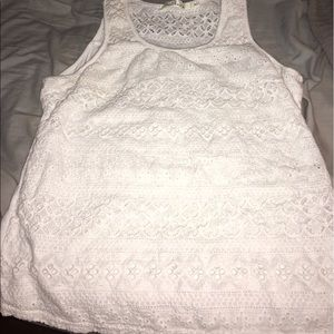 Tops - Cute White Eyelet Top