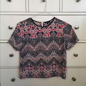 Topshop Patterned T-shirt Blouse Top