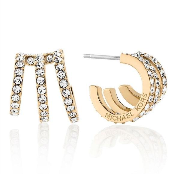 bb7496414297e0 Michael Kors Crystal Pave Huggie Earrings. M_594885f9fbf6f9d4a8012e03