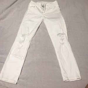 American Eagle Outfitters Other - White denim destroyed American eagle crop