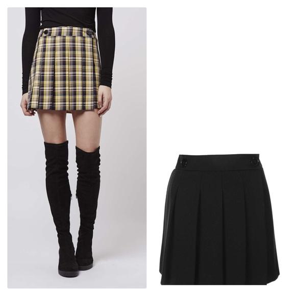 0f1690b0d Topshop Skirts   Wrap Button Kilt Pleated Above Knee Skirt   Poshmark