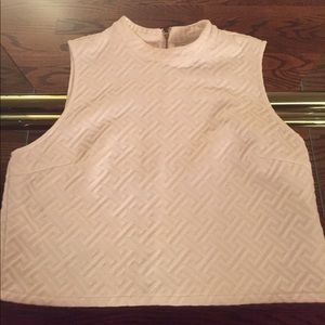Sleeveless White Forever 21 Crop Top
