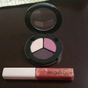 Smashbox Bundle- trio eyeshadow/lip gloss