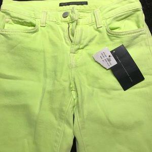 J Brand Denim - J Brand Christopher Kane Lime green flare jeans 25