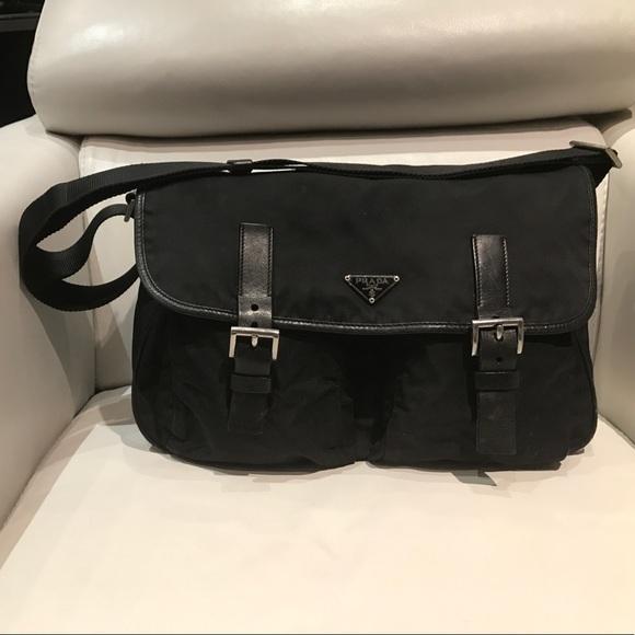 Prada Bags   Nylon Messenger Bag Black   Poshmark f03fc72215