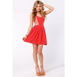 BB Dakota Dresses & Skirts - BB Dakota Ripley Cutout Red Mini Dress