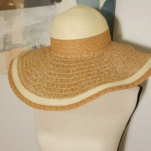 PrincipleProject Accessories - Natural Weave Wire Brim Floppy Hat
