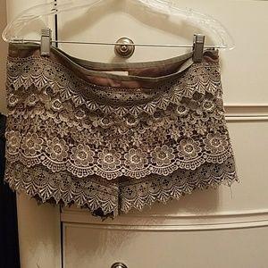 Designer Tiered Shorts