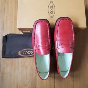 Tod's Shoes - Tod's Penny Loafers in red