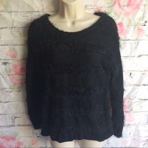 Joseph Allen Tops - Women's medium Black fuzzy sweatshirt