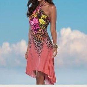 VENUS Dresses & Skirts - Venus NEW dress Coral leopard Sharp