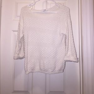 Forever 21 3/4 sleeve knit sweater