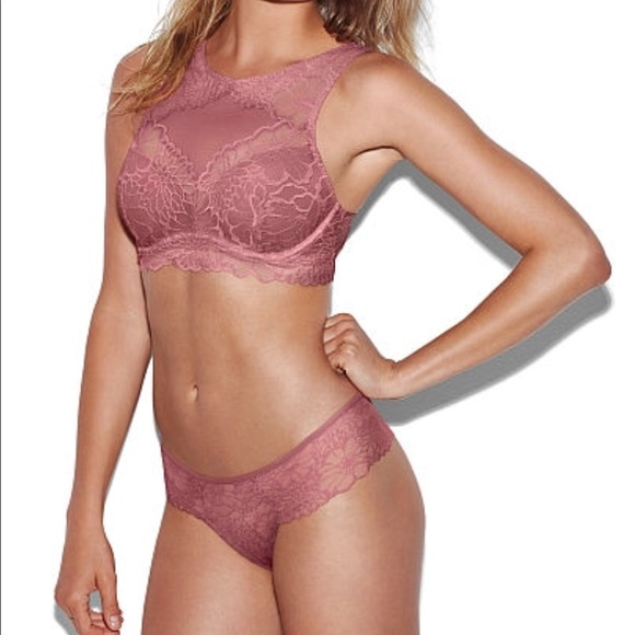 58 Off Pink Victoria S Secret Other Limited Edition Vs High Neck Bralette From Mckenzie S
