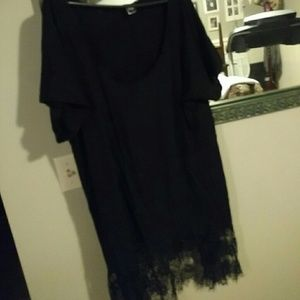 torrid Tops - Black very cute lace on the bottom of the shirt