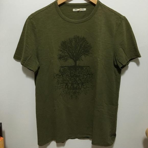 """John Varvatos Star USA """"Tree"""" Green T-Shirt Small"""