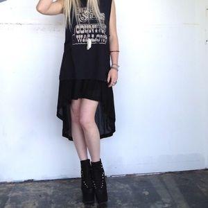 UNIF Dresses & Skirts - UNIF Black High Low Skirt