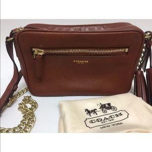 Coach Handbags - Coach Legacy Cognac Leather Crossbody