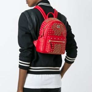 MCM Handbags - NWT MCM Stark Special Studded Mini Backpack