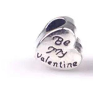Be my valentine heart European charm