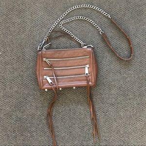Rebecca Minkoff Handbags - Rebecca Minkoff Five-Zip Mini Crossbody - Tan