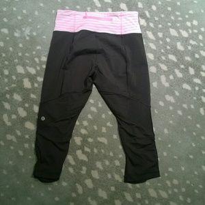 lululemon athletica Pants - Lululemon high waisted crop leggings sale