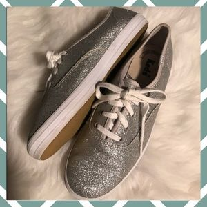 Keds Sliver GLITTER Sneakers size 6 💎SPARKLY 💎