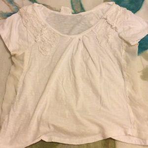 Pins & Needles Tops - White lace and chiffon tshirt
