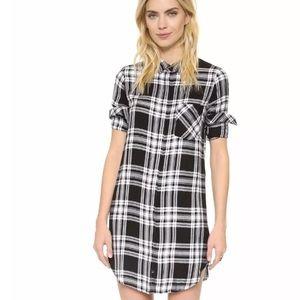 Rails Dresses & Skirts - Rails Sawyer Shirt Dress Plaid Black White