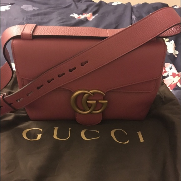rational construction uk cheap sale save off Gucci GG Marmont Leather Shoulder Bag