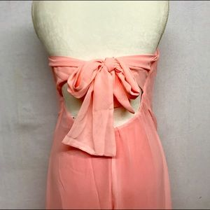 Dresses & Skirts - NWOT Gauzy pink stripeless dress