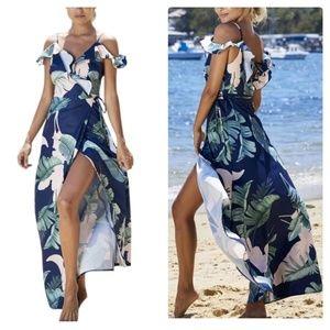 Dresses & Skirts - 🎈 REDUCED:  Blue Off Shoulder Dress NWT
