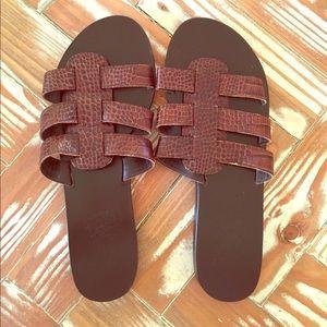 Ancient Greek Sandals Shoes - Ancient Greek sandals, worn once