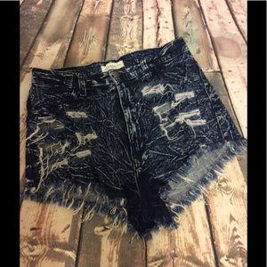 Aphrodite Pants - Stretchy distressed shorts by Aphrodite size L