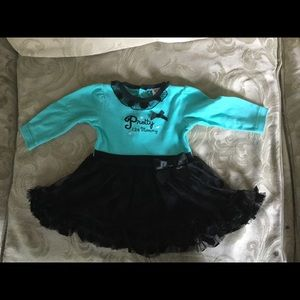 Baby Essentials Other - Baby 👶🏽 Girl Black and Turquoise 9 months dress