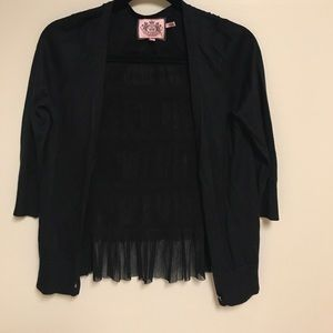Juicy Couture Sweaters - Dainty black Juicy Couture cardigan