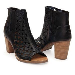 Toms Shoes - TOMS Basketweave Majorca Peep Toe boot