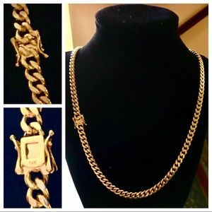 "Other - 14K Gold Plated (6MM X 30"") Cuban Link Necklace"