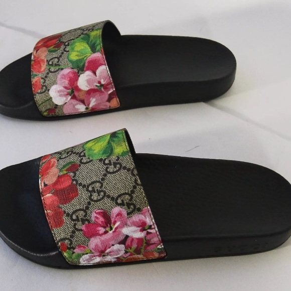 59 off gucci shoes gucci floral slides from beendrippin s closet