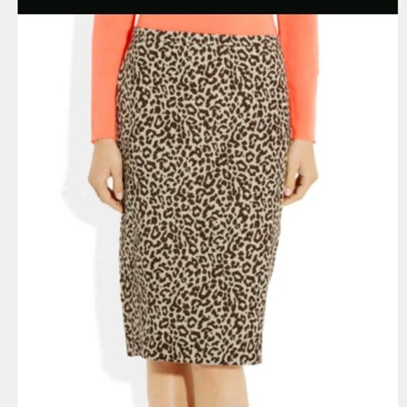 f8187284ce J. Crew Dresses & Skirts - J.Crew Leopard Animal Print Linen Pencil Skirt