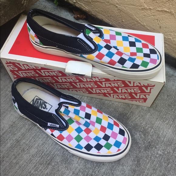 2aa7c14c55d0 Vans multicolored checkered vans. M 5948bcb74e95a30763021d0c