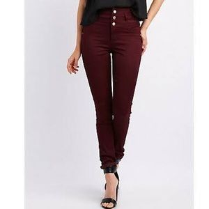 Charlotte Russe Pants - Burgundy high waisted pants👖