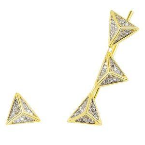 nOir Jewelry Jewelry - nOir Jewelry Pyramid Climber Earrings