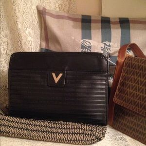 Mario Valentino Handbags - 2 Vintage Valentino Monogram handbags bag & clutch
